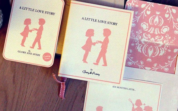 A-little-love-story wedding invite hk