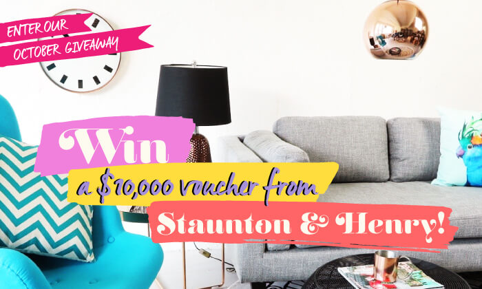 October Giveaway: Win a $10,000 voucher from Staunton and Henry!