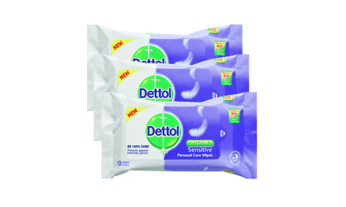 Stay clean with antibacterial wipes from Dettol