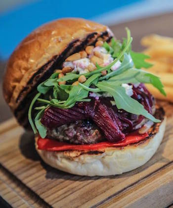 lamb burger at kinsale in kennedy town