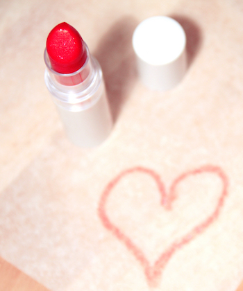 heart drawn in lipstick